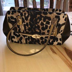 Coach Leopard Print Canvas Brown Bag